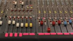Sound control 2 Stock Footage