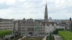 Stock Video Footage of brussels downtown view, belgium ariel view of street