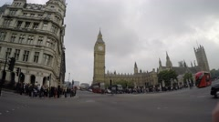 Big Ben view Parliament London  - stock footage
