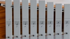 A white xylophone found inside the Orel church Stock Footage