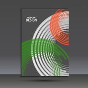 Vector color line twirl design. Cover template Stock Illustration