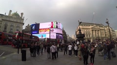 Piccadilly Circus London UK 4K - stock footage