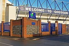 LIVERPOOL UK JANUARY 8TH 2016. Goodison Park Stadium, home of Everton Footbal - stock photo