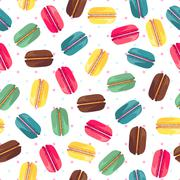 Seamless pattern with tasty donuts - stock illustration