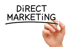 Direct Marketing Black Marker Stock Photos