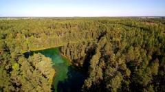 Aerial view of the Antu lake in Laane-Virumaa Estonia Stock Footage