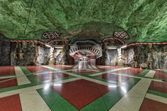 Stockholm Metro Art Collection - stock photo