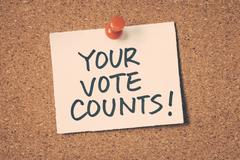 Stock Photo of your vote counts