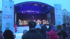 Celebration of Christmas in Ukraine Stock Footage