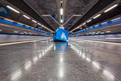 Stockholm Metro Art Collection Stock Photos