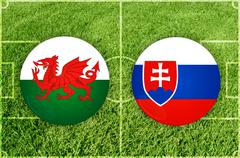 Football match symbols - stock illustration