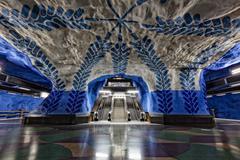 Stockholm Metro Art Collection Stock Photos