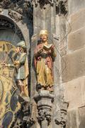 Astronomical clock tower in Prague's  - Czach Stock Photos