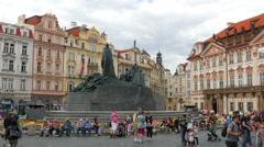 PRAGUE - CZECH REPUBLIC, AUGUST 2015: old town, city center Stock Footage