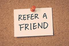 refer a friend - stock photo