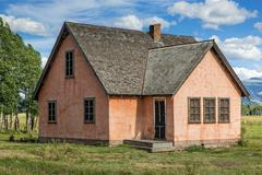 Wyoming Farm House Stock Photos