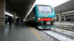 Florence, Italy. Firenze Santa Maria Novella railway station, passengers. Stock Footage