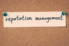 reputation management - stock photo