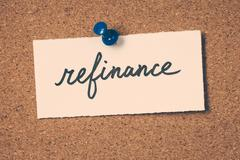 refinance - stock photo