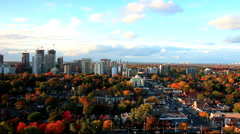 Toronto Urban Residential Community in Autumn Stock Footage