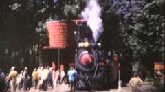 Roaring Camp steam train, Water tank filling - stock footage