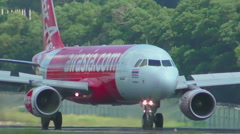 Airbus 320 braking after landing Stock Footage