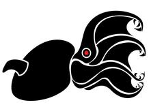 Octopus vampire tattoo Stock Illustration