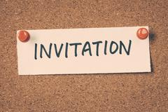 invitation - stock photo