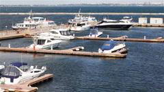 Yachts Berth Stock Footage