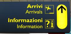 Italian Terminal Info Board Stock Photos