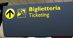 Italian Terminal Info Board - stock photo