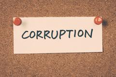 Stock Photo of corruption