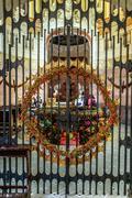 Metal gatesin Cappella di San Giovanni Sarkander Stock Photos