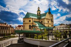 Basilica of the Assumption in Rzeszow Stock Photos