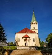Parish church in Stropkov, Slovakia - stock photo
