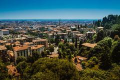 Bergamo is a city in Lombardy, Italy - stock photo