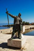 Stock Photo of monument of Duke Branimir in Nin, Croatia