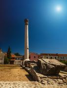 Stock Photo of On Temple there was Corinthian column, Nin, Croatia