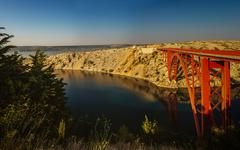 The Maslenica Bridge of Croatia - stock photo