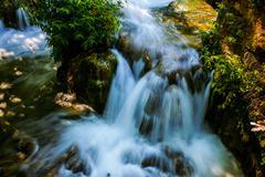 Waterfalls on Krka is a river in Croatias Dalmatia Stock Photos
