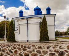 Orthodox church of Assumption in Kleszczele Stock Photos