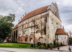Church of Sts. Andrew Apostle in Barczewo (1325) Stock Photos