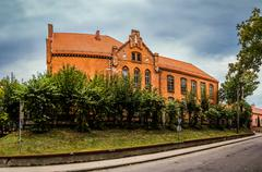 Old gymnasium in Barczewo, Poland - stock photo