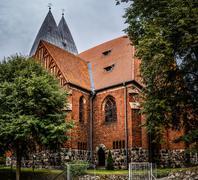 Basilica of St. James Apostle in Olsztyn, Poland Stock Photos