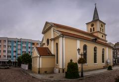 Stock Photo of Post-evangelical church in Sztum, Poland