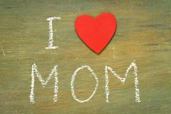 Text i love mom Stock Photos