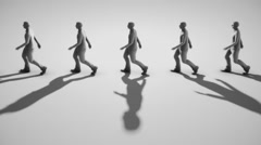 Minimalist Group Walking in Place Stock Footage