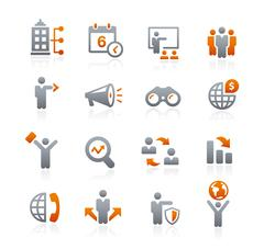 Business Opportunities Icons -- Graphite Series Stock Illustration