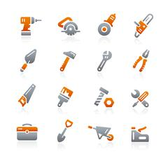 Tools Icons -- Graphite Series - stock illustration