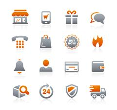 E-Shopping Icons -- Graphite Series - stock illustration